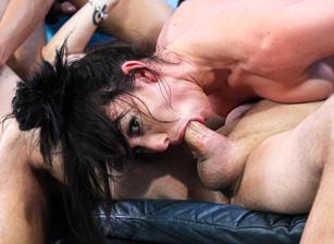 Neck-In-Neck Steamy Cock Sucking Challenge