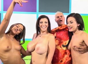 Three Girls On A Slice of Dan