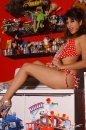 Red With White Polka Dot Bikini Toy Room picture 27
