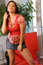 Jean Skirt & Red Vest picture 11