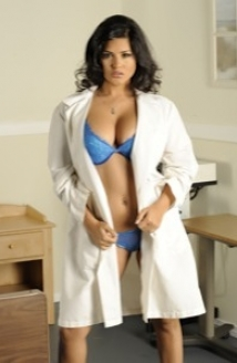 Hospital Bed Blue Lingerie Picture