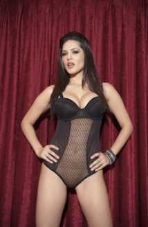 Red Curtain Black Lingerie Strip Picture