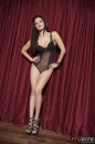 Red Curtain Black Lingerie Strip picture 13