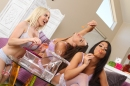 Lesbians Playing With Bubbles picture 13